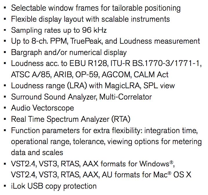 RTW Mastering tools caracteristics