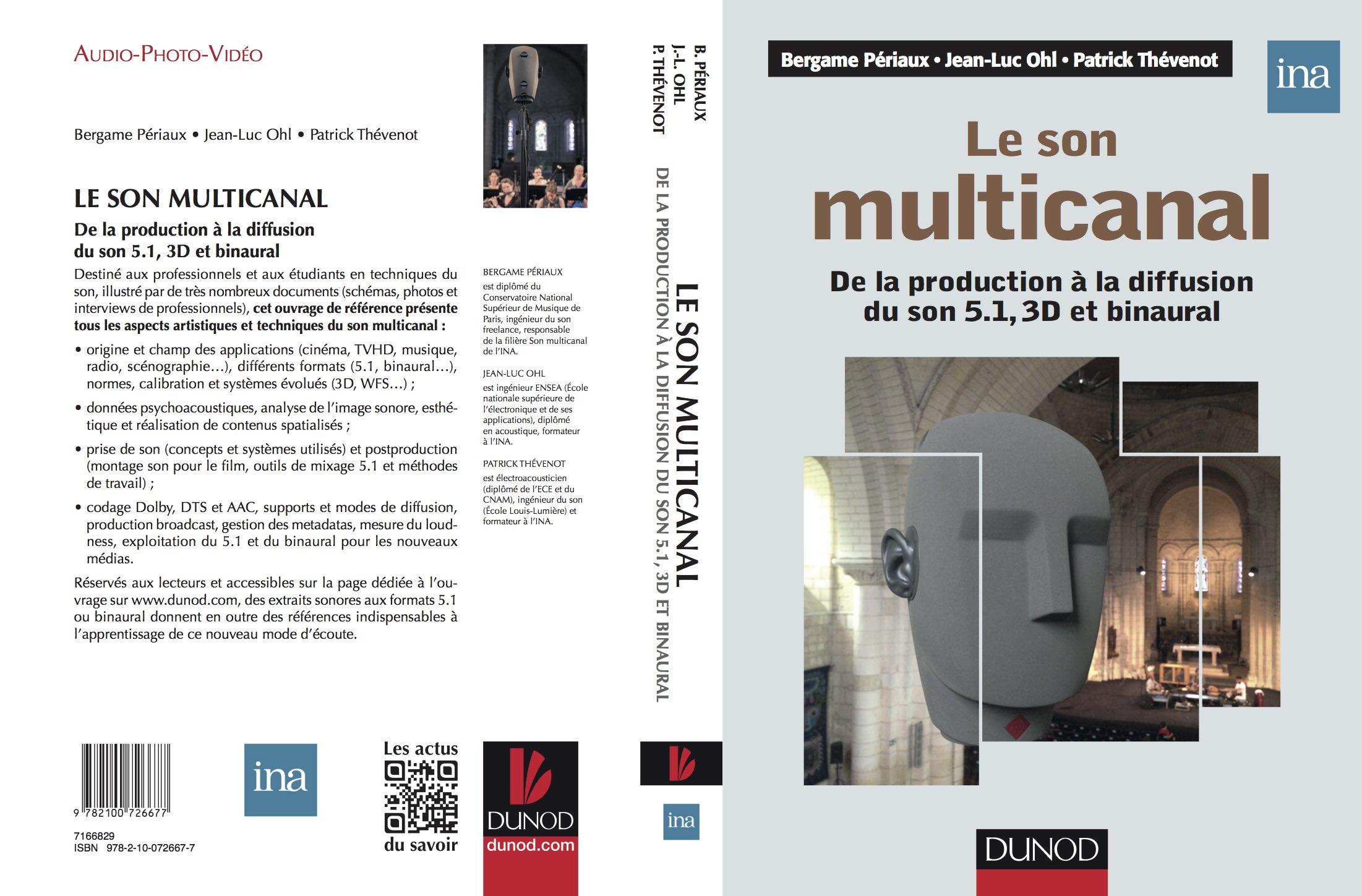 Parution de l'ouvrage sur le son multicanal chez Dunod